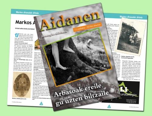 Aidanen 13. alea argitaratua