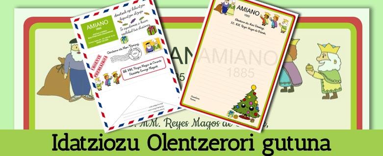 Idatziozu Olentzerori gutuna